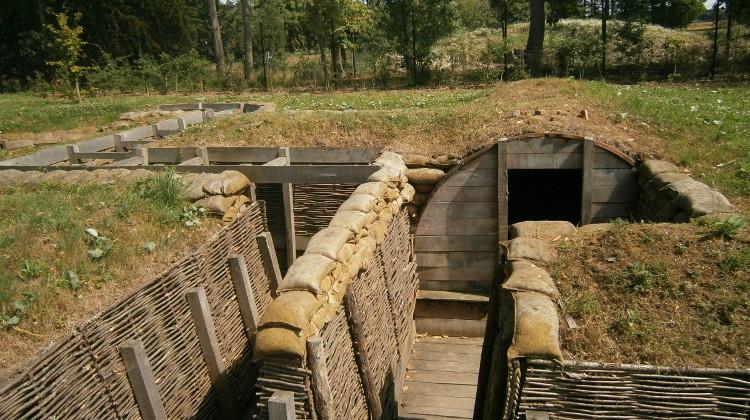 Reconstruction of WW1 trench in Belgium