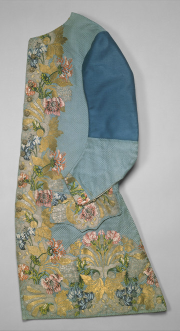 Finished waistcoat with Anna Maria Garthwaite's design