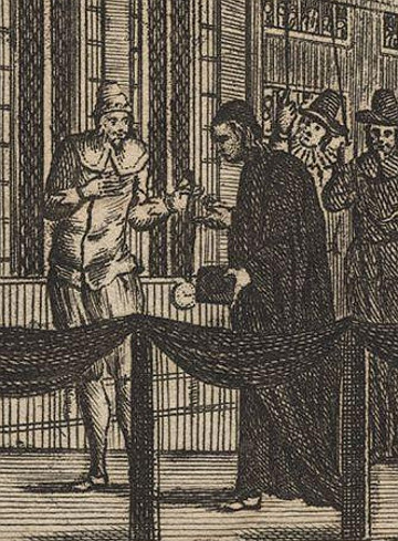 Charles I hands Juxon his Garter