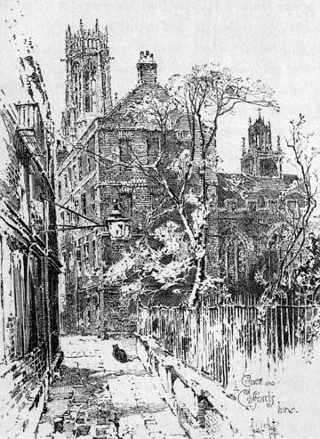 A corner of Clifford's Inn, 1895, by Herbert Railton