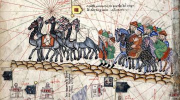 Trader caravan on the Silk Road