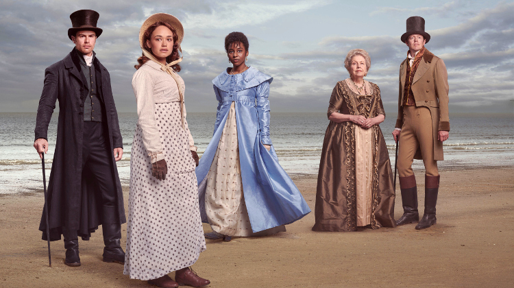 Sidney Parker, Charlotte Heywood, Miss Lambe, Lady Denham and Tom Parker