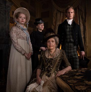 Clara Brereton, Esther Denham, Lady Denham and Edward Denham