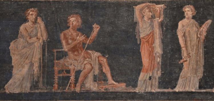 Roman fresco: Bacchanalian scene
