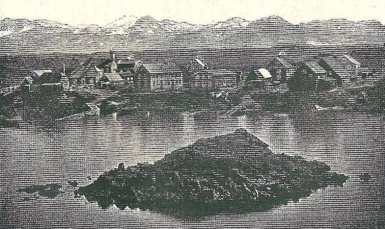 Stykkisholm (Stykkishólmur) on Snæfellsnes; engraving from Jules Leclercq's La Terre de glace, Féroë, Islande, les geysers, le mont Hékla, 1883