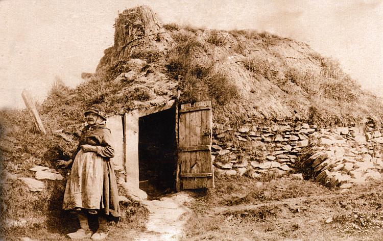 Traditional Cardiganshire cottage or bwthyn near Aberystwyth, 1850s