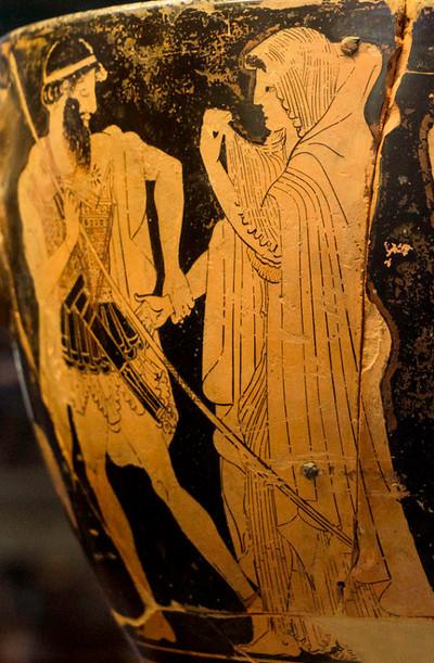 Agamemnon abducting Briseis