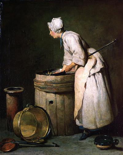 La fille de cuisine (The Scullery Maid) by Jean-Baptiste-Siméon Chardin