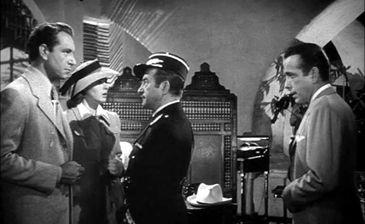 Paul Henreid, Ingrid Bergman, Claude Rains and Humphrey Bogart in Casablanca (1942)