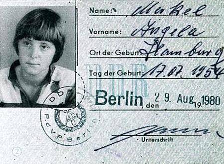 Angela Merkel's GDR driving licence, 1980