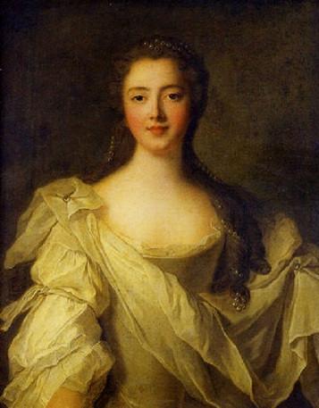 Portrait presumed to be Marie Louise de La Tour d'Auvergne, Princesse de Guéméné by Jean-Marc Nattier (1746)