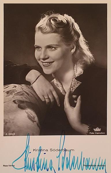 Autographed photo of Kristina Söderbaum
