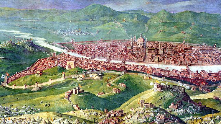 Siege of Florence in 1530, fresco by Giorgio Vasari, 1558