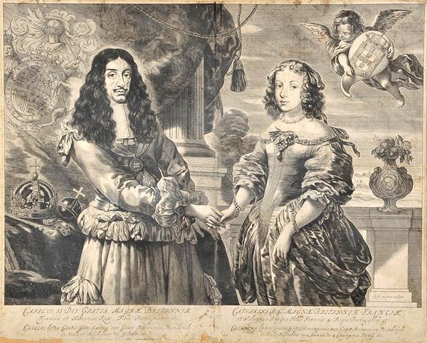 Charles II and Catherine by Frederik Hendrik Van den Hove