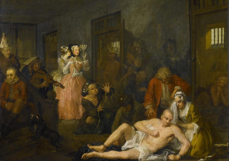 A Rake's Progress VIII: The Madhouse by William Hogarth, 1734 © Sir John Soane's Museum, London