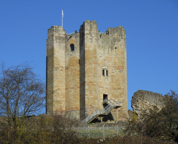 The keep of Conisbrough Castle, built by Hamelin de Warenne: by Sharon Bennett Connolly