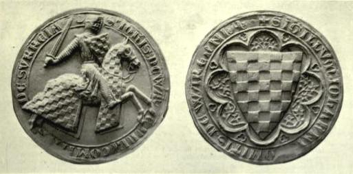 The seal of John de Warenne, 6th Earl of Surrey