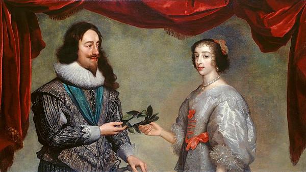 Charles I and Henrietta Maria by Daniel Mytens, c1630–32
