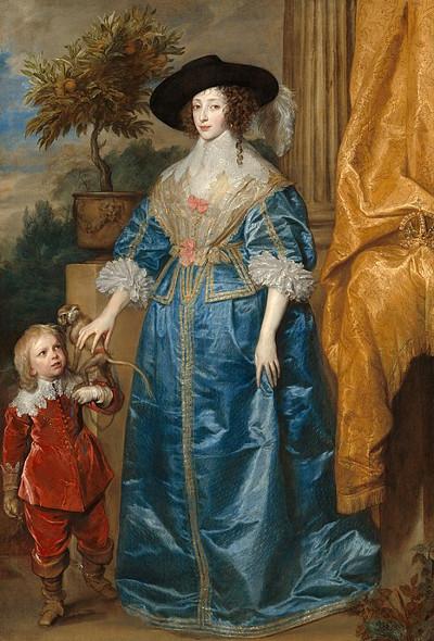 Henrietta Maria and Sir Jeffrey Hudson by Anthony van Dyck, 1633