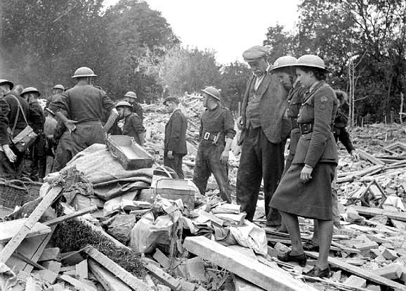 V1 Bomb Damage in London, 1944